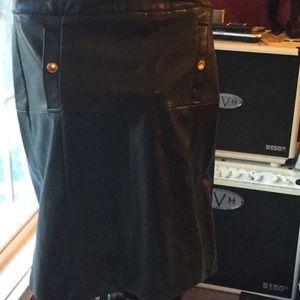 NWOT faux leather Liz Claiborne skirt